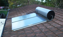 Roof Mounted Solar Hot Water Systems